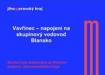 Vavřinec - napojení na skupinový vodovod Blansko